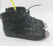 Summer NEW black open toe lace up  WOMEN SHOES ROMAN GLADIATOR  SANDALS SIZE  8
