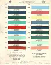 1956 Buick Paint Chip Chart - Must See !!