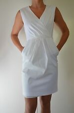 Basque Designer White Wrap Dress Race Cocktail Formal Party Sexy Women Dress 10
