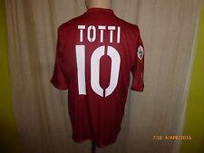 """As ROMA ORIGINALE DIADORA maglia di casa 2004/05 """"MAZDA"""" + N. 10 Totti taglia M-L Top"""