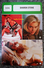 US Basic Instinct Actress Sharon Stone French Film Trade Card