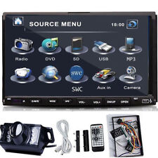 Camera+7'' HD TouchScreen 2 Din In Dash Car CD DVD Player Radio FM Stereo USB SD