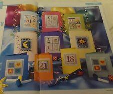 Gráficos de punto de cruz-tarjeta de cumpleaños especial hito gráficos X 10