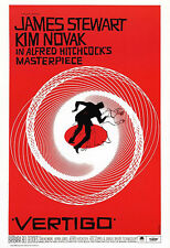 Vertigo Poster, Alfred Hitchcock Movie Masterpiece, 1950s Thriller