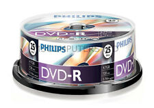 Philips DVD-R Inkjet Printable 25 Pack Spindle 16x 4.7GB Blank DVDs Media Disks