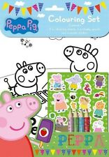Peppa Pig la coloraciГіn Set / Fiesta De Cumpleaños botín pegatinas