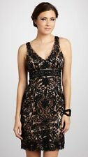 SUE WONG  Black Nude Beaded GATSBY Cocktail Evening Illusion Back Dress 2