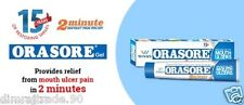 2X Wings ORASORE GEL Provides Relief from Mouth ulcer in 2 min10 gm HERBAL EDH