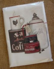 Flour Sack Towel Designed by Mary Lake Thompson - Coffee Cans, Pot, Cup