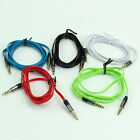 3.5mm 4 Flat Noodle Record Pole Male To Male M/M Stereo Audio AUX Cable Cord