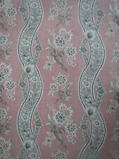 "SCHUMACHER CURTAIN FABRIC DESIGN ""Le Castellet"" 4.6 METRES BLUSH 100% LINEN"