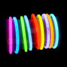 "100 x 8"" Glow Light Sticks Bracelets - 9 Colors - Premium Glo Lite -Free Glasses"