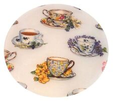 """Andreas Silicone Tea Party 8"""" Trivet, Pretty surface protector, Dishwasher safe!"""