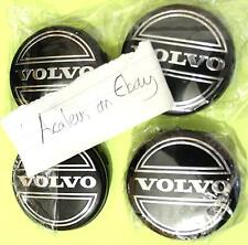 Volvo S60 Centre Caps Set of 4x Alloy Wheel 64mm Black Hub