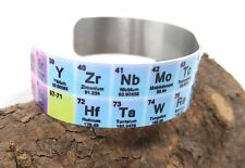 PERIODIC TABLE OF ELEMENTS CUFF BRACELET NERD GEEK GIFT FASHION FUNNY ALUMINUM