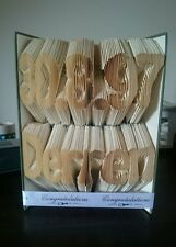 Book folding art birth date & name Unique custom made gift. Great present