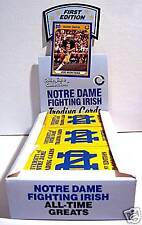(20) Box Case ~ Notre Dame Fighting Irish Football College Trading Cards ~ New!