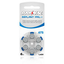 Rayovac Cochlear Implant Pro+ 675 Mercury Free Hearing Aid Batteries x60 cells