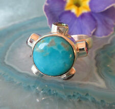Ring Silver 925 hl Stone of the Indianer Sleeping Beauty Turquoise Mystic Topas