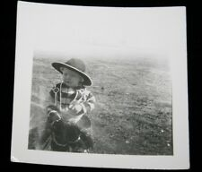 "Original 1930s Kid Cowboy Halloween 2 3/4"" x 2 1/2"" Black & White Photograph"