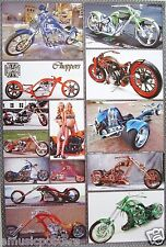 """CHOPPER MOTORCYCLES POSTER """"14 WEST COAST MODELS"""" - AMERICAN MOTORBIKES & CYCLES"""