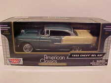 1955 Chevy Bel Air Hard Top Coupe Die-cast Car 1:24 Green by Motormax 8 inch