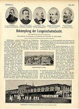 Dr.Gottfried Pannwitz Bekämpfung der Lungenschwindsucht  TBC Belzig Malchow 1899