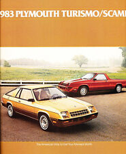 1983 Plymouth Turismo 2.2 and Scamp 20-page Original Car Sales Brochure Catalog