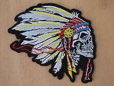 ECUSSON PATCH THERMOCOLLANT CHEF INDIEN CRANE coiffe plume country biker rock