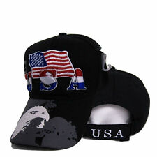 USA American Bald Eagle Shadow Flag Embroidered Cap Hat