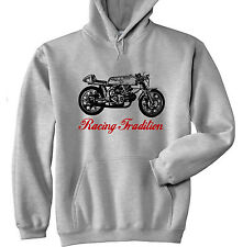 AERMACCHI ALA D`ORO RACING TRADITION P - GREY HOODIE - ALL SIZES IN STOCK