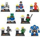 8Pcs Superman Batman Flash Minifigures Minifigs Building Blocks Toy Kids Gifts