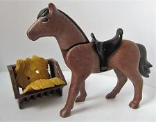 Playmobil Brown horse with hay rack NEW farm/stables/western extra animal