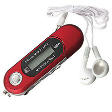 New Red 8GB Mp3 Wma Usb Music Player With Lcd Screen Fm Radio Earphone Headset