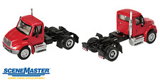 SceneMaster International 4300 Red Single Axle Tractor 1:87 HO Scale #949-11131