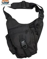 Kombat Black Tactical Shoulder Bag 7 Litre Airsoft Military Army Paintball