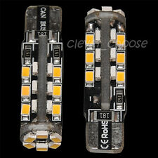 2x Canbus T10 W5W Car 30 3020 SMD LED Inverted Side Wedge Light Bulb Warm White