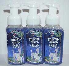 3 BATH BODY WORKS MERRY BERRY KISS GENTLE FOAMING HAND SOAP WASH VANILLA GINGER
