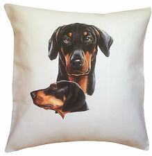 Doberman Pinscher Group  Dog Themed Cotton Cushion Cover - Perfect Gift