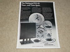 Dahlquist DQ-10 Speaker Ad, 1979, 1 page, Article, Info