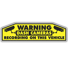 DVR DASH CAM WARNING STICKER 180mm wide car insurance decal cctv