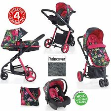NEW COSATTO TROPICO PINK WOOP TRAVEL SYSTEM PUSHCHAIR PRAM STROLLER BABY CARSEAT