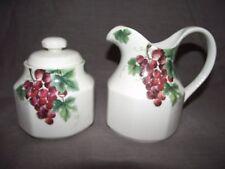 Royal Doulton Vintage Grape Sugar Bowl and Creamer