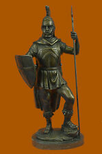 Roman Legion Soldier Warrior Bronze Marble Sculpture Statue Figure Warrior Decor