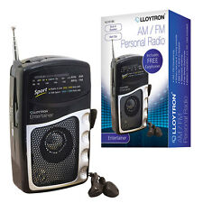 Lloytron ''Entertainer'' 2 Band DC Personal Radio With Earphones - Black