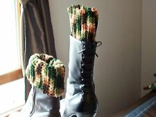 Boot Cuffs-leg warmers   acrylic yarn, machine wash, camo