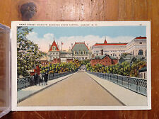 Hawk Street Viaduct Showing State Capital Albany NY Vintage Color Postcard
