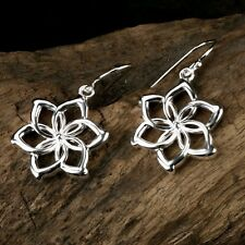 New LORD OF THE RINGS NENYA Elven Queen 925 Sterling Silver Flowers Earring HJ45