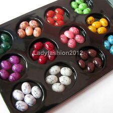 60PCS 12 Color 3d cell phone nail art flat back acrylic rhinestones decorations