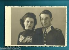 #H151. WWII POSTCARD OF GERMAN SOLDIER AND LADY